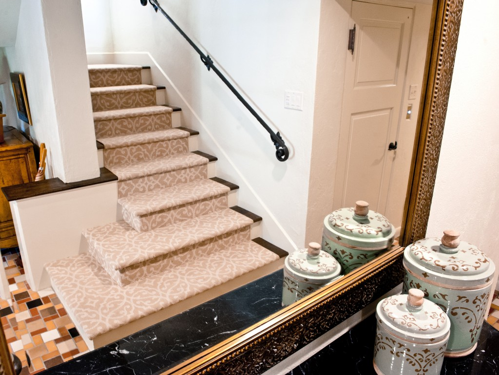 Elegant Staircase And Eco Friendly Area Rug Schroeder Carpet