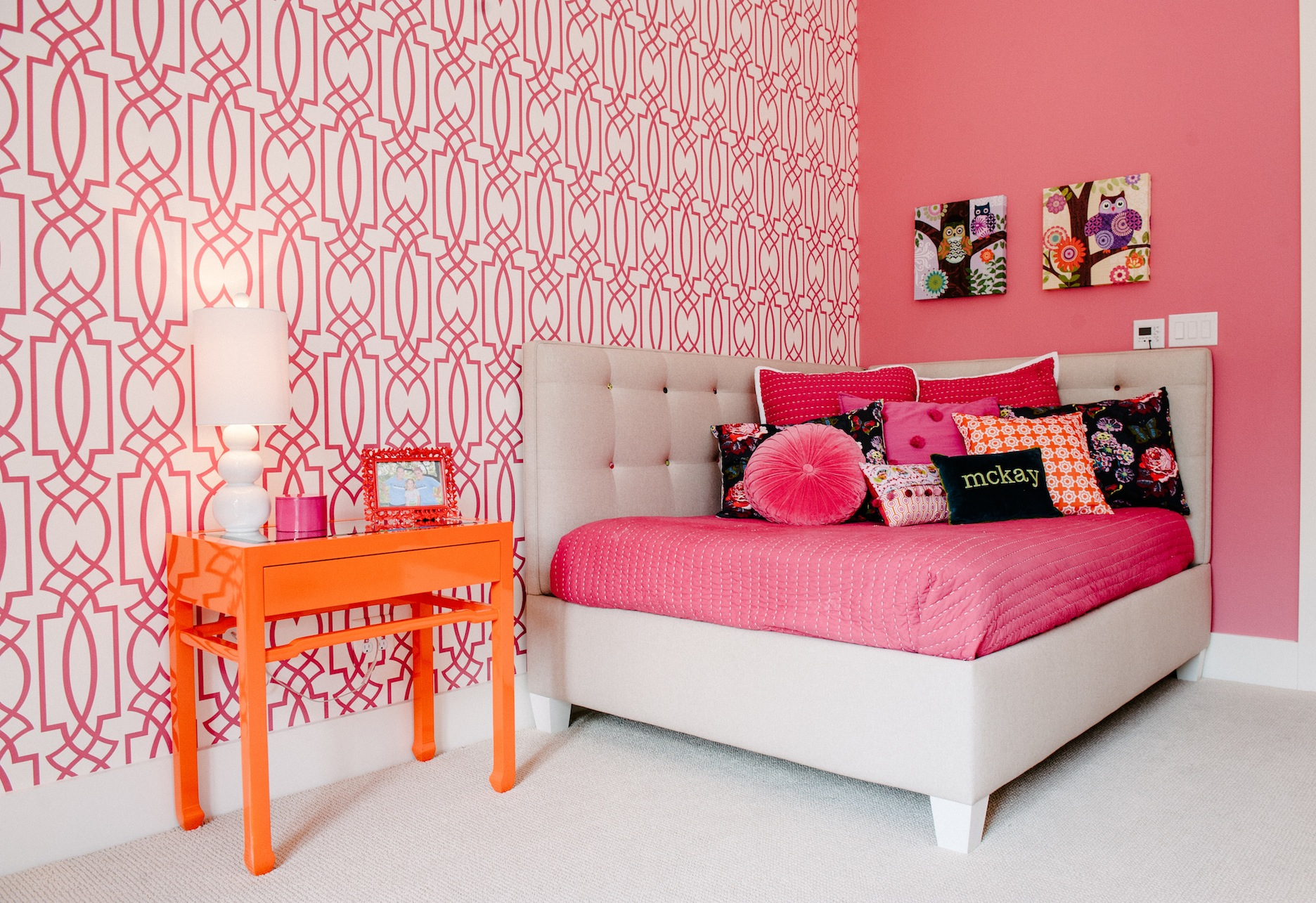 Barton Creek West: pink and white tween bedroom - Schroeder Carpet