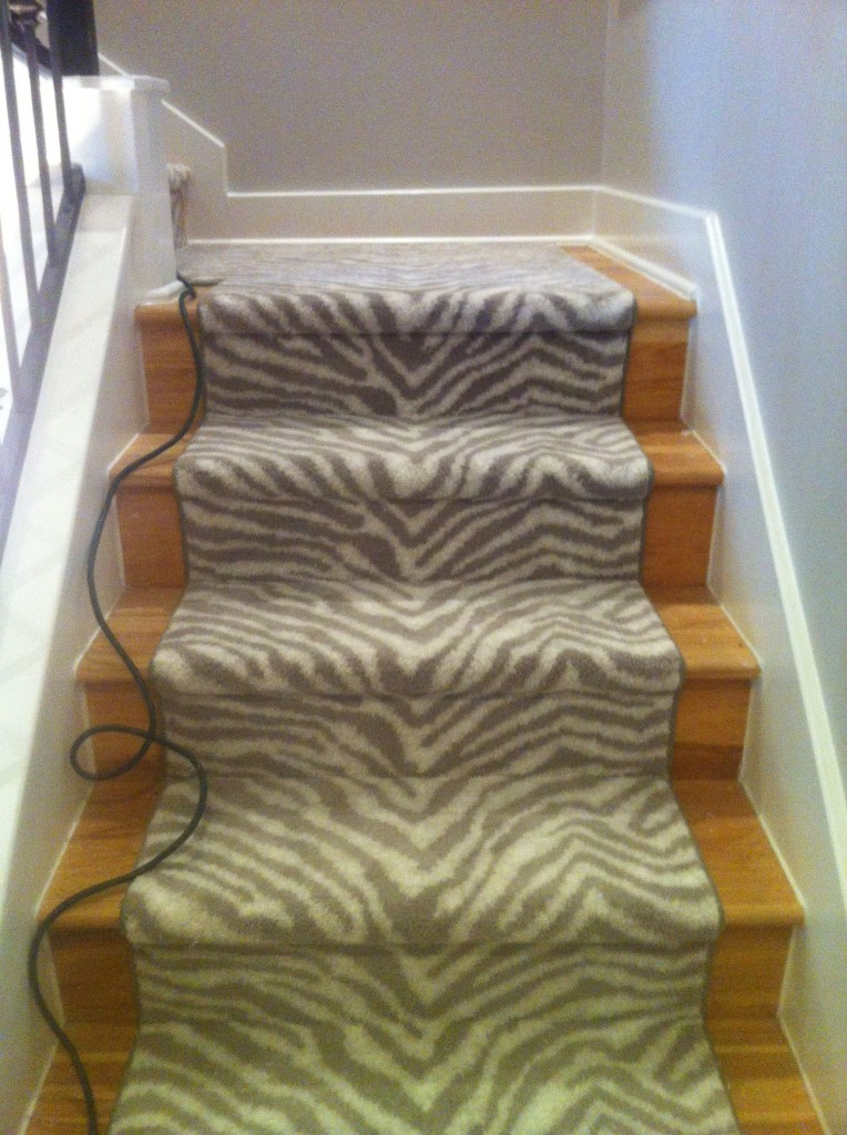 Zebra Staircase Two Different Ways To Carpet The Stairs
