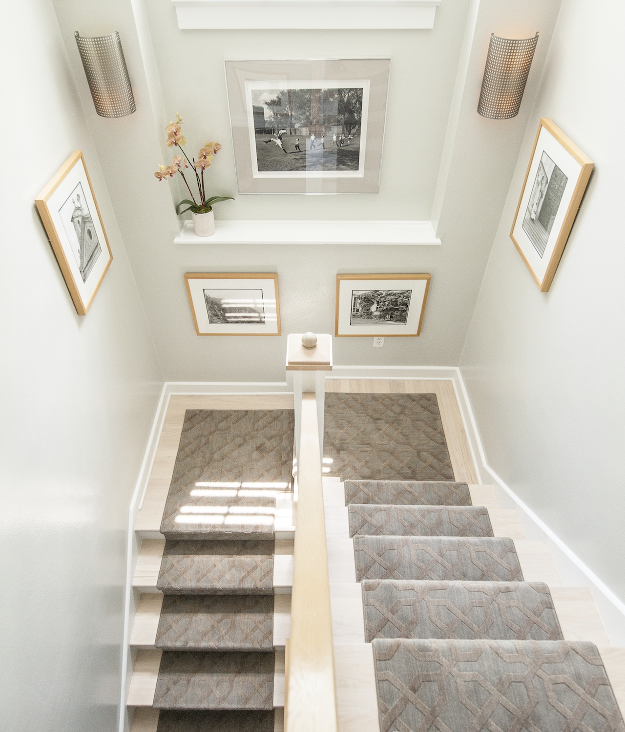 Basement Stair Landing Decorating: Nourison: Wool Stair Runner On A Staircase